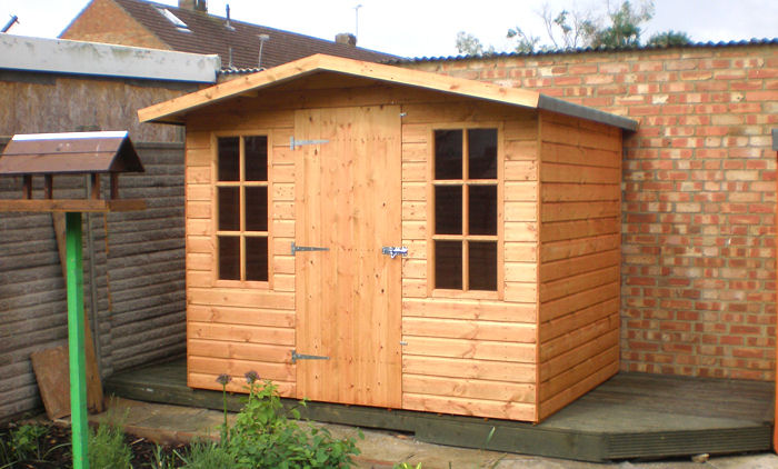 contemporary garden sheds x dallas ft vinylcoated steel - Garden Sheds 6 X 8