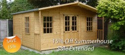 Summerhouse Sale Extended - 15% off