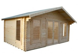 Sutton Log Cabin Angle View