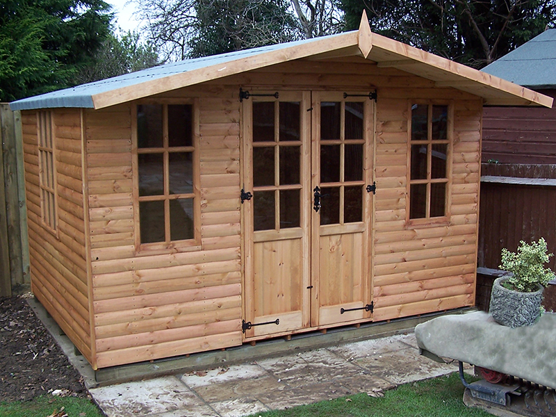 Abinger summerhouse shed 8 x 12 surrey shed manufacturer for 12x8 shed with side door