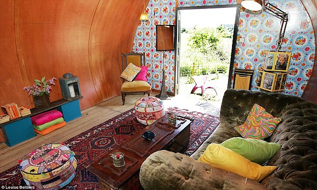 This shed has more soft furnishings in it than a lot of living rooms in proper houses