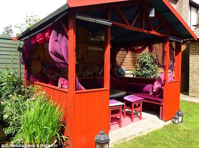 This pagoda-style shed has taken inspiration from The Orient