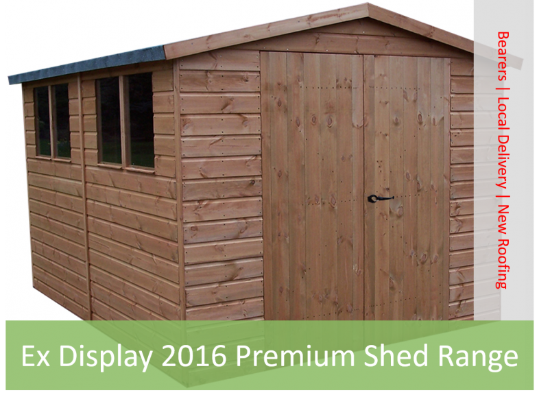 Ex Display 2016 Premium Shed Range