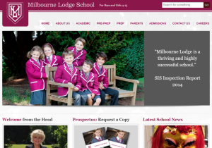 Milbourne Lodge school home page